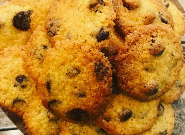 Gluten-free choc-chip cookies